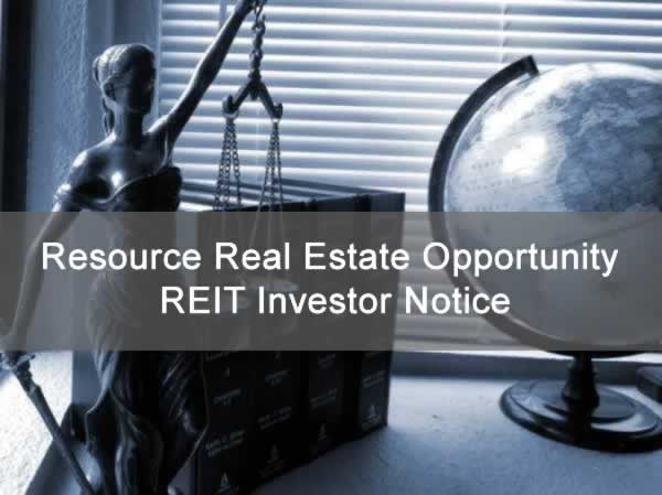 Resource Real Estate Opportunity REIT