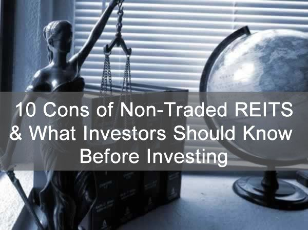 10 Cons of Non-Traded REITS